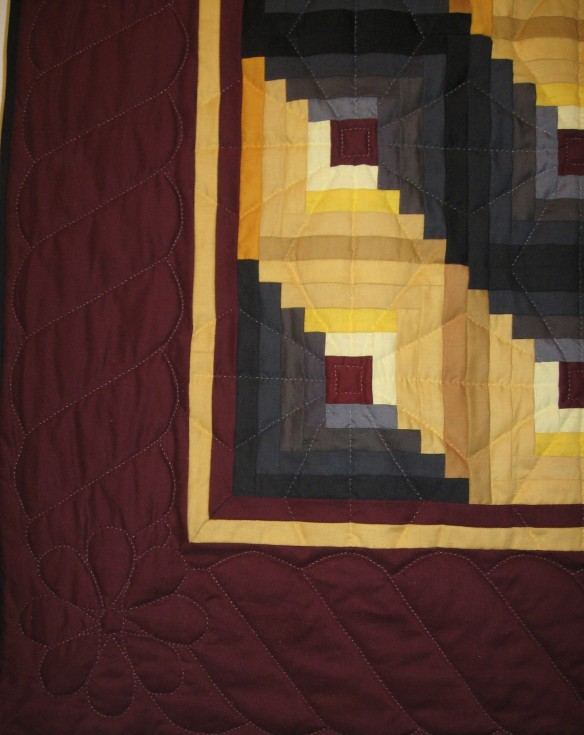 A corner of Ella Bontrager's Amish quilt