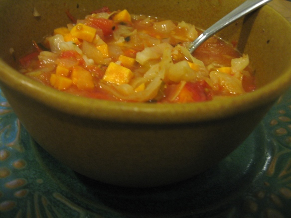 Cape Verde Vegetable Soup, from Sundays at the Moosewood, published by The Moosewood Collective.