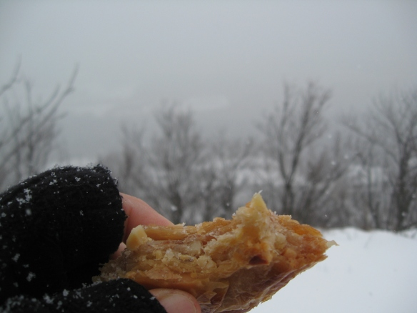 Baklava in the snow.