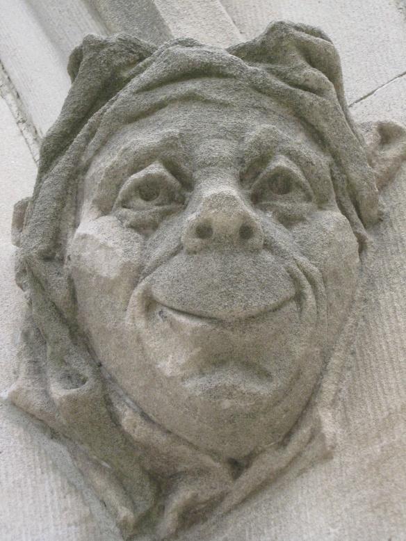 "Welcoming carving on the Emma Willard School  ""Alumnae Chapel"""