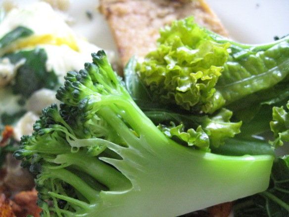 More to come about the food--but here are the staples of broccoli and kale. I ate kale at every meal some days. Yum.