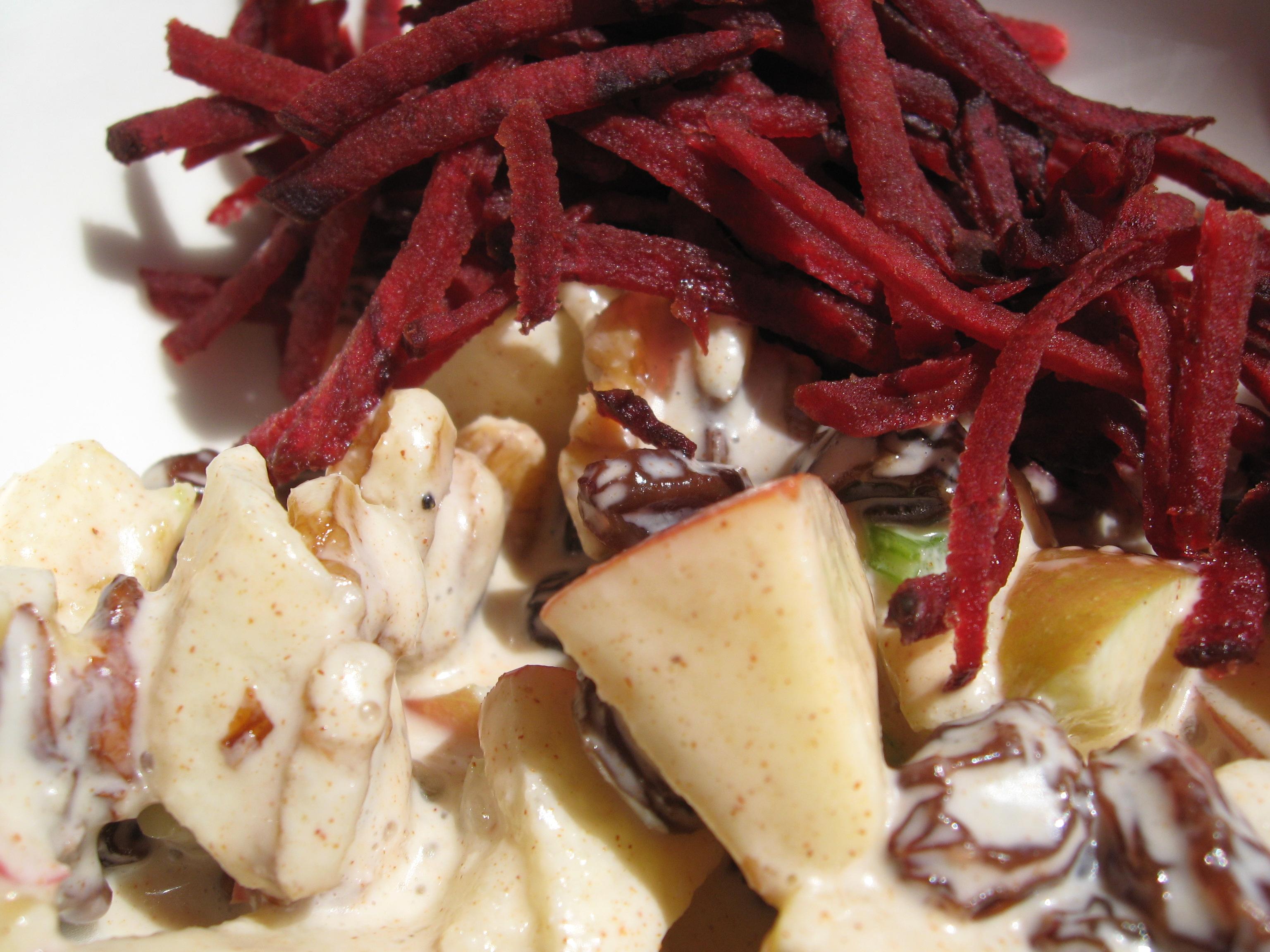 Beets and a cinnamon apple salad.