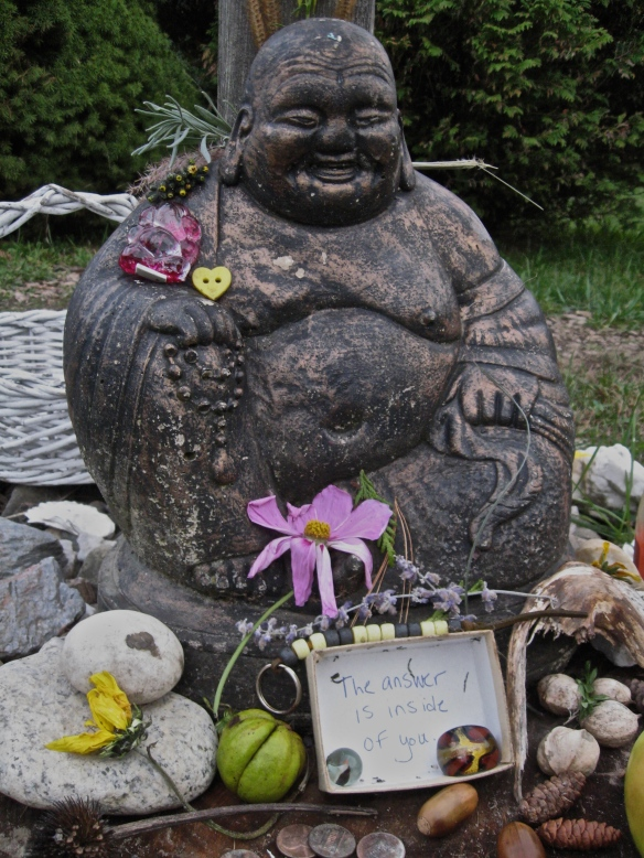 Buddha statue at Kripalu, October 2013. The answer is inside of you.